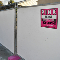 Pink Fence - Civil Fencing Hire - Temporary Fencing Hire & Rental