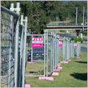 Mesh Fencing - Pink Fence
